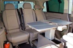 Interior de un minivan Fotos de archivo libres de regalías