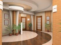 Interior de un pasillo Foto de archivo libre de regalías