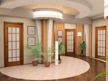 Interior de un pasillo foto de archivo
