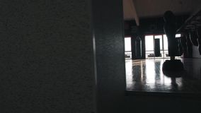 Interior de un pasillo del boxeo almacen de video