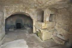 Interior de un Sasso en Matera, Italia Imagen de archivo libre de regalías