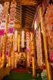 Interior de un templo budista en Yunnan Fotografía de archivo libre de regalías