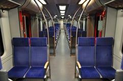 Interior de un tren Fotos de archivo libres de regalías