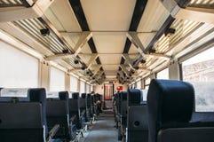Interior de un tren rápido turco Foto de archivo libre de regalías