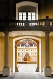 Interior de una abadía Fotos de archivo