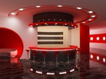 Interior de una barra moderna stock de ilustración