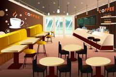 Interior de una cafetería moderna ilustración del vector