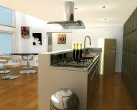 Interior de una cocina libre illustration
