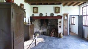Interior de una granja vieja fotos de archivo libres de regalías