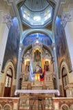 Interior de una iglesia ecuatoriana Fotografía de archivo