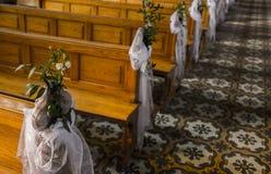 Interior de una iglesia vacía Imágenes de archivo libres de regalías
