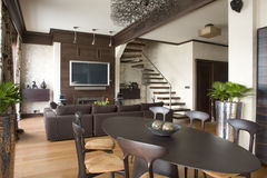Interior de una sala de estar Imágenes de archivo libres de regalías