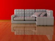Interior de una sala de estar. Foto de archivo libre de regalías