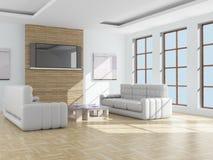 Interior de una sala de estar. stock de ilustración