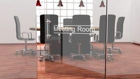 Interior de una sala de reunión moderna de la oficina Imagen de archivo libre de regalías