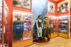 Interior de uno de los pasillos de Samara Military History Muse Imágenes de archivo libres de regalías
