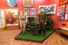 Interior de uno de los pasillos de Samara Military History Muse Imagen de archivo