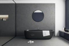 Interior de vidro moderno do banheiro Imagens de Stock Royalty Free