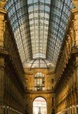 Interior de Vittorio Emanuele del Galleria Imagen de archivo libre de regalías