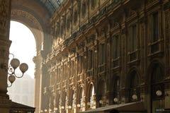 Interior de Vittorio Emanuele Gallery Foto de archivo libre de regalías