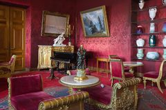 Interior de Vladimir Palace Era el palacio imperial pasado a Fotos de archivo libres de regalías