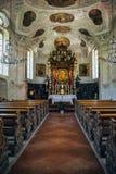 Interior de Wallfahrtskirche Maria Gern, Alemania Imagen de archivo libre de regalías
