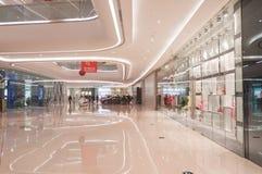 Interior de Wanda Plaza en la calle de Han Imágenes de archivo libres de regalías