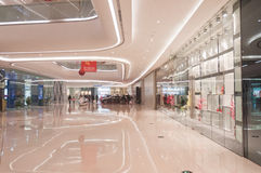 Interior de Wanda Plaza na rua de Han Imagens de Stock Royalty Free