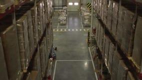 Interior de Warehouse de distribución almacen de video