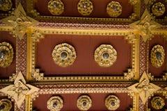Interior de Wat Benchamabophit (templo de mármore) Imagem de Stock Royalty Free