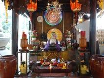 Interior de Wat Phnom, el más viejo templeof Phnom Penh - capital de Camboya Fotos de archivo libres de regalías