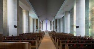 Interior de Wesley United Methodist Church Foto de archivo libre de regalías