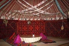 Interior de Yurt Fotos de archivo libres de regalías