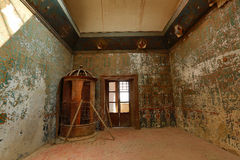 interior decay in a mexican hacienda stock image