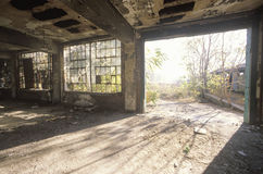 Interior of decaying abandoned factory, East St. Louis, Missouri Stock Image