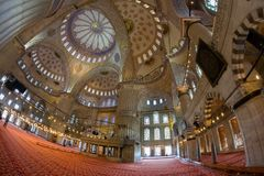 Interior decoration of the Blue Mosque Sultanahmet Mosque royalty free stock photography