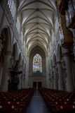 Interior decoration of the Cathedral of St. John the Baptist. Michael and St. Gudula Stock Photos