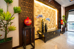 Interior decoration of Chinese style Royalty Free Stock Images