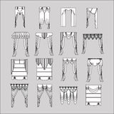 Interior decoration. curtains. curtains Interior design sketch. Royalty Free Stock Photography
