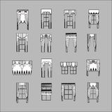 Interior decoration. curtains. curtains Interior design sketch. Stock Images