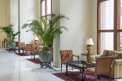 Hotel Lobby. Interior decoration and design of hotel lobby Stock Photos