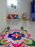Interior decoration. Diwali celebration. Festival
