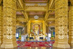 Interior decoration inside Phra Maha Chedi Chai Mongkol in Roi Et province, northeastern Thailand Royalty Free Stock Images