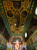 The interior decoration of the Roman Catholic Church. Of Our Lady of the Rocks, artifisial island, coast of Perast in Bay of Kotor, Montenegro Stock Photography