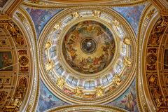 Interior decoration of Saint Isaac's Cathedral in St. Petersburg Stock Photo