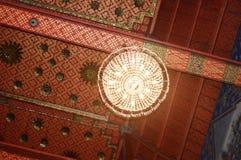 Interior decoration at Sleeping Buddha temple Stock Photo