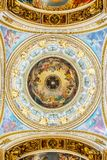 Interior decoration of St. Isaac`s Cathedral, Saint-Petersburg, Russia royalty free stock image