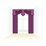 Interior decoration textiles sketch. box decorated curtains. int Stock Photos