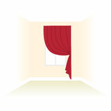 Interior decoration textiles sketch. box decorated curtains. int Royalty Free Stock Images