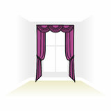 Interior decoration textiles sketch. box decorated curtains. int Stock Image